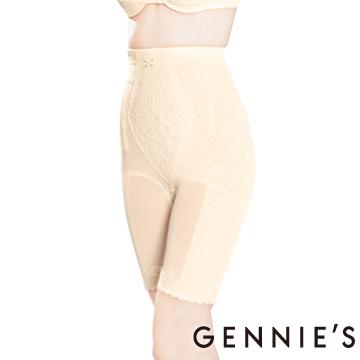 Gennie's奇妮 010系列-窈窕美身長筒束腹褲-米黃(T565)