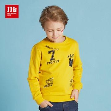 JJLKIDS 英倫時尚拼貼上衣(芥末黃)