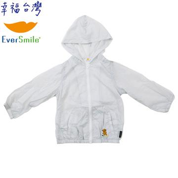 【EverSmile】連帽QQ熊風衣外套(淺灰)