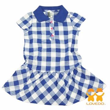 【LOVEDO艾唯多】亮麗色彩 格紋小洋裝(藍)