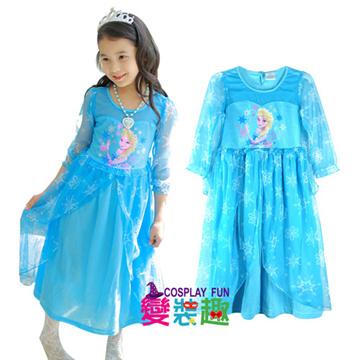 韓國正版冰雪奇緣Elsa艾爾莎網紗長袖造型服16015