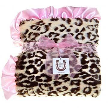 *Mombabyfun* Max Daniel 動物紋系列 粉邊豹紋嬰兒毯/午睡毯/彌月禮 美國製