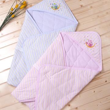 包巾(鋪棉彩紋布印花)標準粘扣型藍粉紅可選