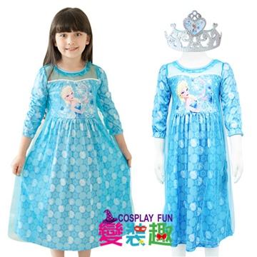 韓國正版冰雪奇緣Elsa艾爾莎中長袖造型服