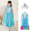 韓國正版冰雪奇緣Elsa艾爾莎紗袖花瓣造型服