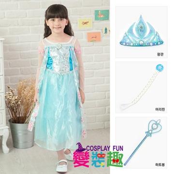韓國正版冰雪奇緣Elsa艾爾莎花瓣造型服