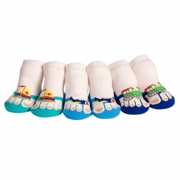 美國 Jazzy Toes 時尚造型棉襪/止滑襪/假鞋襪_三入禮盒組_交通工具組(JT3-06)