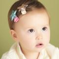UNICO 韓版 兒童可愛亮皮星星造型髮夾-2入組