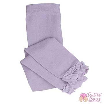 RuffleButts 小女童甜美公主荷葉邊內搭褲-薰衣草色
