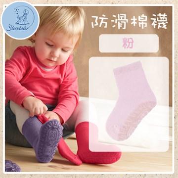 STERNTALER 素色加厚防滑棉襪-粉