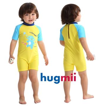 【hugmii】童趣造型素袖連身兒童泳裝_大象