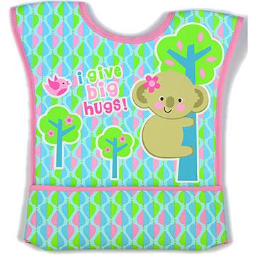 美國 luvable friends  嬰幼兒無袖雙面防水圍兜_綠色無尾熊 (92004)