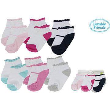 美國 luvable friends  嬰兒襪/寶寶襪/初生襪 6入組_優雅瑪莉珍(26148)