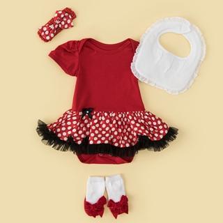 日安朵朵 女嬰雪紡蓬蓬裙連身衣禮盒–俏皮M小姐(衣+圍兜+寶寶襪)