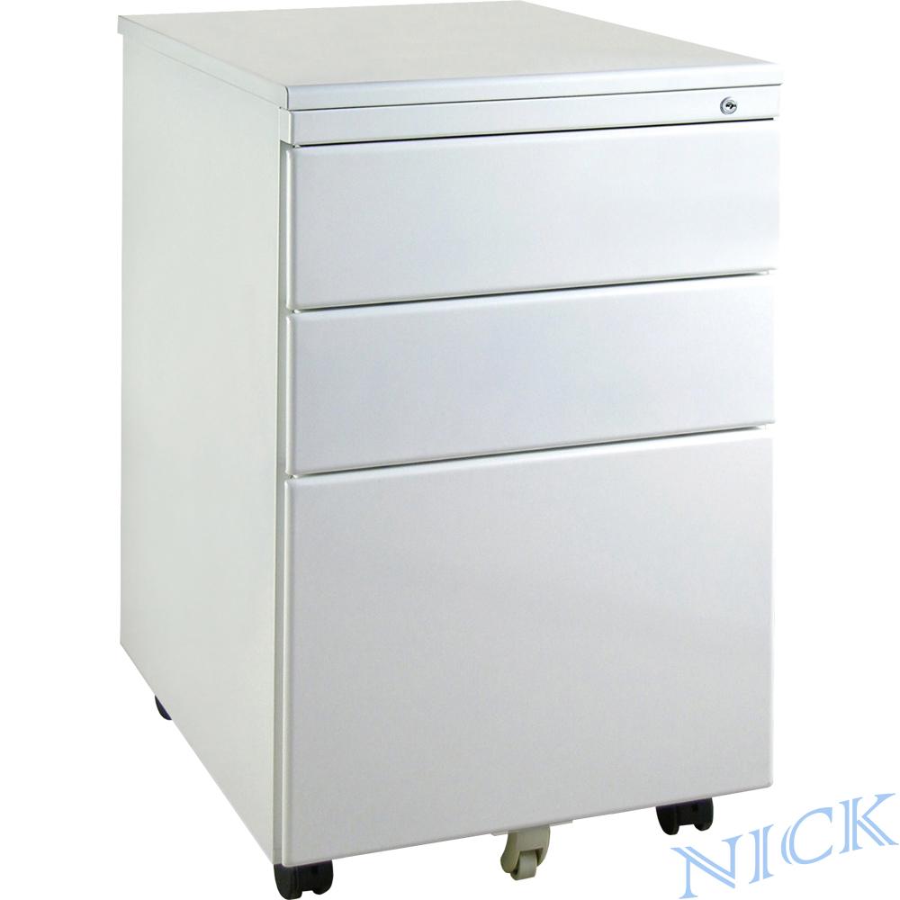 【NICK】 平面鋼製活動櫃_三抽