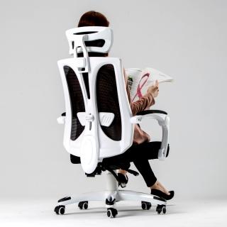 Abuy-卡唯機能護腰工學電腦椅-PU靜音滑輪