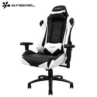 B.Friend GC04 專用電競椅/賽車椅(尊爵加大版)-白黑