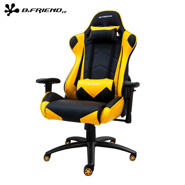 B.Friend GC04 專用電競椅/賽車椅(尊爵加大版)-黃黑