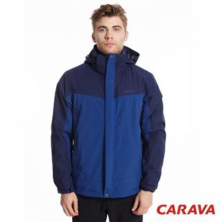 CARAVA男款兩件式防水外套(深藍)