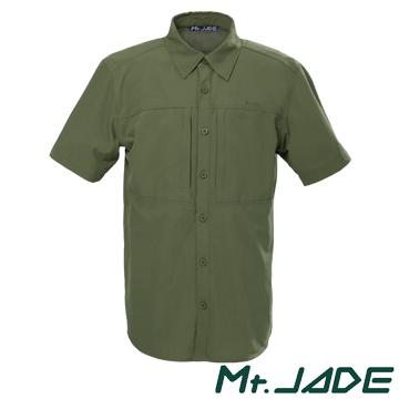 Mt.JADE Ac'Dry男款Willogan吸濕快乾短袖襯衫 - 軍綠色