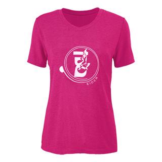 法國【EiDER】女排汗透氣彈性條紋短袖微V領衫/EIT2551