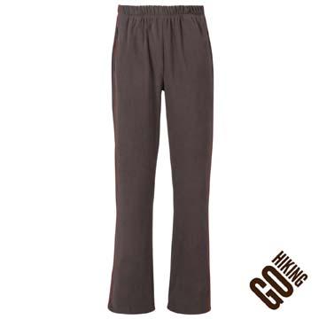 【GoHiking】男刷毛保暖長褲-橄綠色