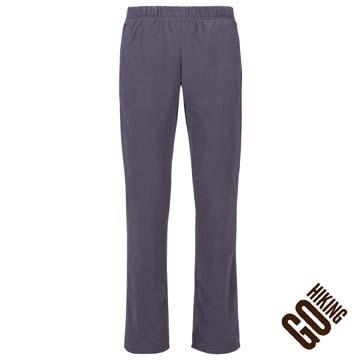 【GoHiking】女刷毛保暖長褲-灰色