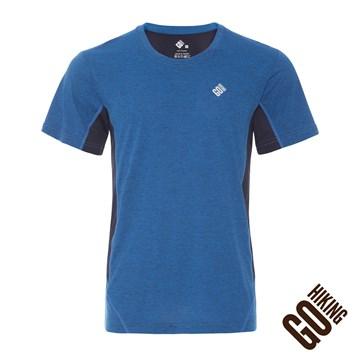 【GoHiking】男吸排快乾短袖上衣-海軍藍