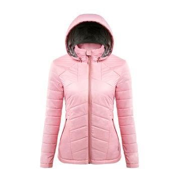 【GoHiking】女Primaloft保暖外套-霧粉