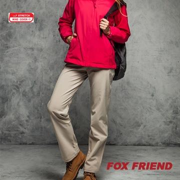 【FOX FRIEND】WIND COVER 防風保暖彈性休閒褲 男款 P541 買就送保暖圍巾
