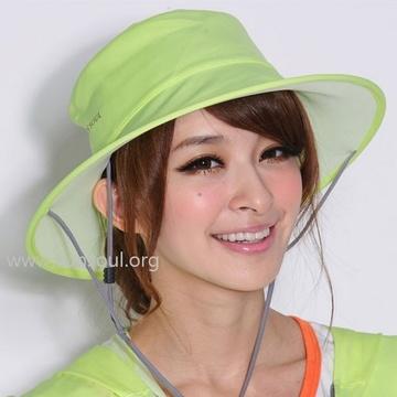 【SUN SOUL】抗UV防曬光能帽-圓筒帽(黃光)