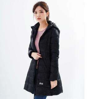 遊遍天下 女款長版顯瘦防風防潑羽絨外套