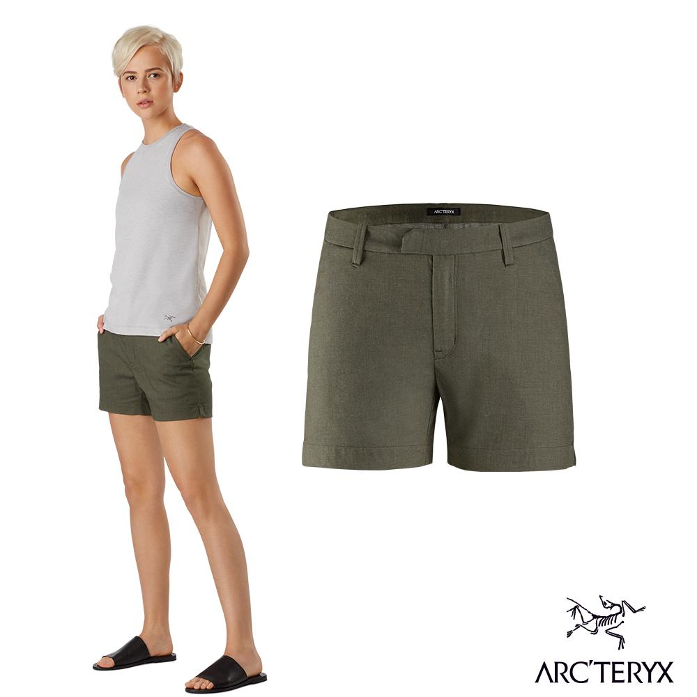 Arcteryx 始祖鳥 女 Devis 抗污防潑吸濕 休閒短褲 鐵樹綠