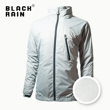 【Black Rain】三合一夾克,軟殼內夾克 BR-1375030-1(8492 淺灰/白版花)