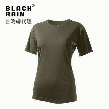 【Black Rain】女圓領短袖休閒衫 BR-112011 (14137 墨綠色)