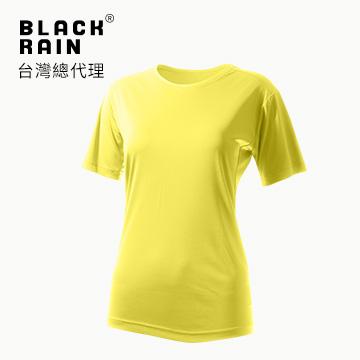 【Black Rain】女圓領短袖休閒衫 BR-112011 (15111 鵝黃)