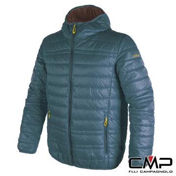 【義大利CMP】亮彩PRIMALOFT保暖外套-男-深藍綠
