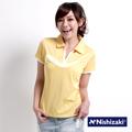 日本西崎  女款短袖POLO衫NS013黃/藍/白