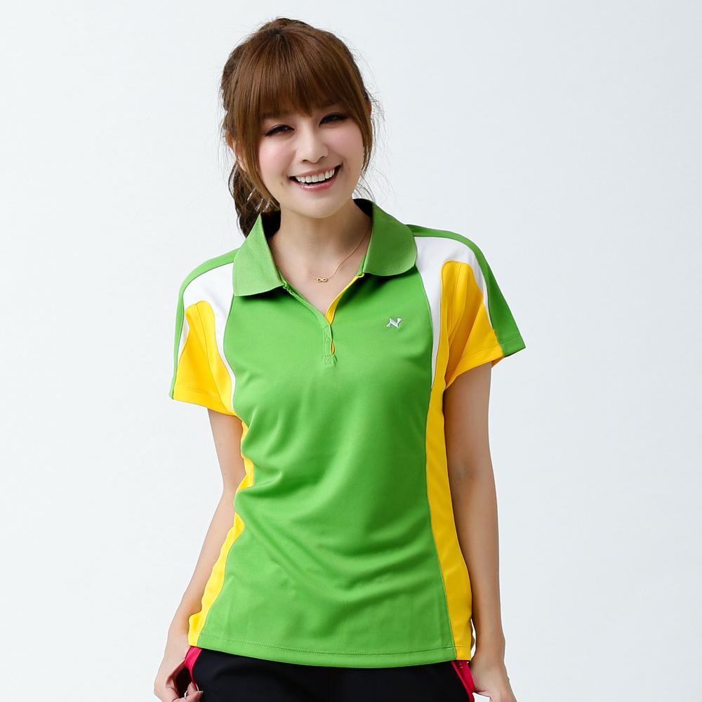 日本西崎  女款短袖POLO衫NS010綠/灰/白