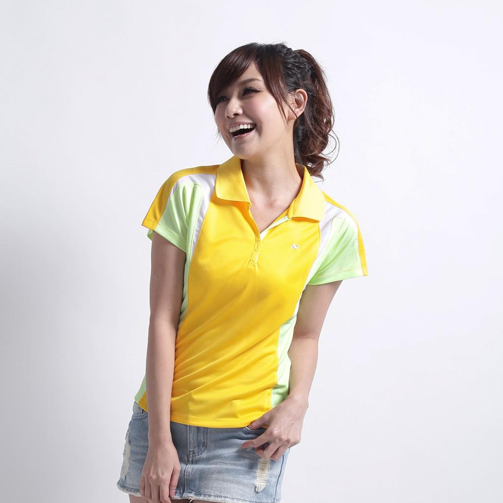日本西崎  女款短袖POLO衫NS010黃/灰/白