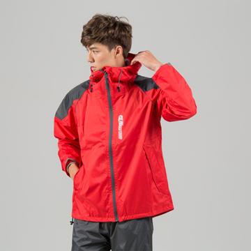 BrightDay犀力兩件式風雨衣-紅