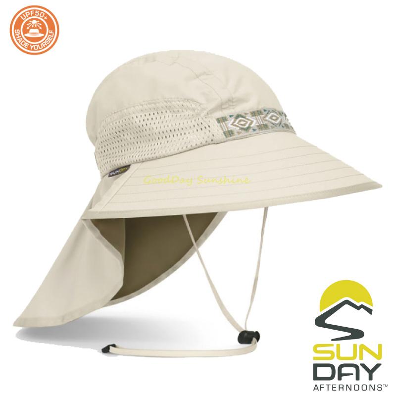 結帳▼9折 Sunday Afternoons 抗UV 防潑透氣護頸探險家帽 奶油 Adventure Hat