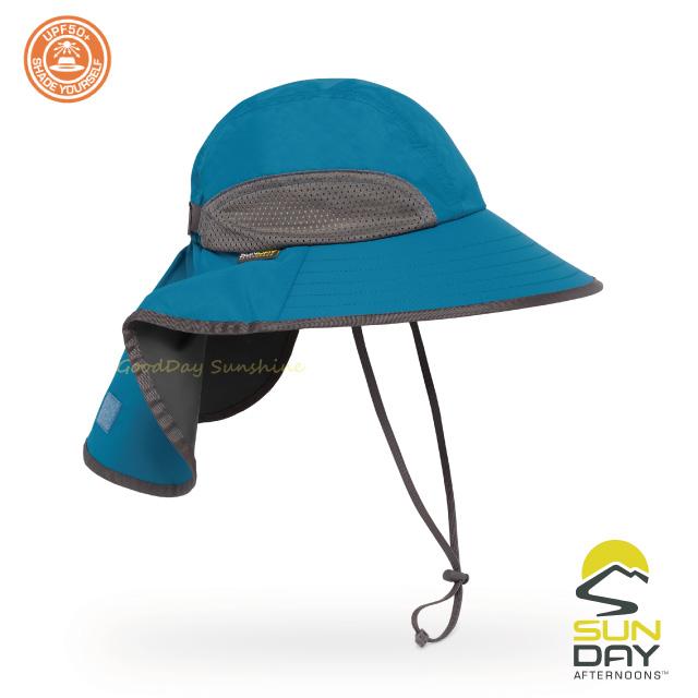 結帳▼9折 Sunday Afternoons 抗UV 防潑透氣護頸探險家帽 月色藍 Adventure Hat