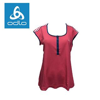 【瑞士ODLO】女無袖休閒衫 241051 (34802-草莓紅)