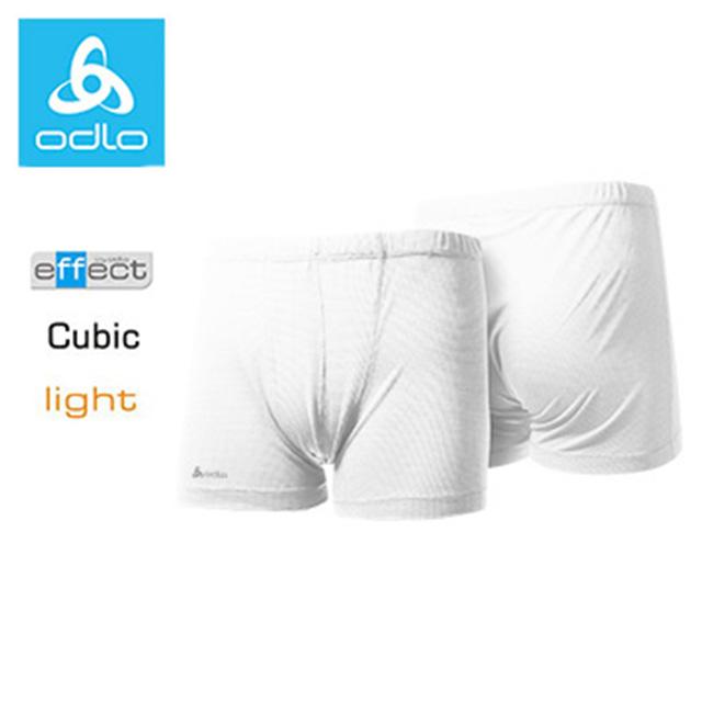 ODLO男銀離子cubic四角內褲140272(白10000)