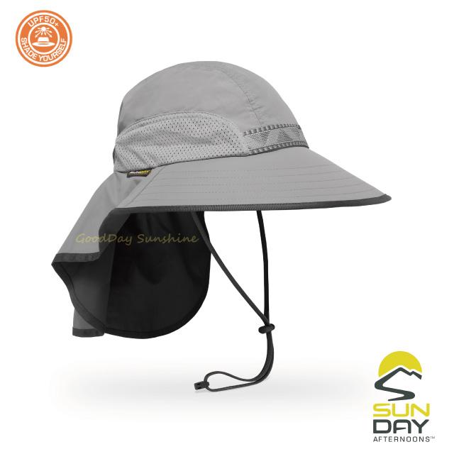 結帳▼9折 Sunday Afternoons 抗UV 防潑透氣護頸探險家帽 礦石灰 Adventure Hat