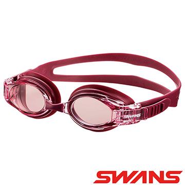 【ATUNAS 歐都納】日本SWANS泳鏡(防霧/抗UV/舒適/游泳/矽膠SW-34酒紅)