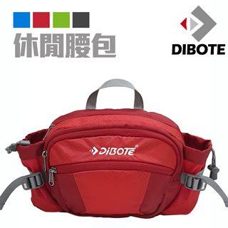 【迪伯特DIBOTE】透氣休閒腰包/背包(紅)