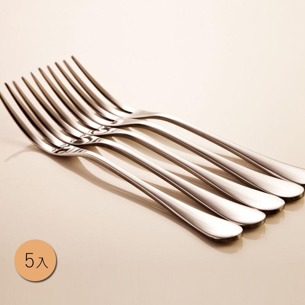 PUSH!餐具不銹鋼叉子蛋糕叉水果沙拉叉甜品叉水果籤5入組E33