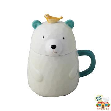 【新食器】NIWAWA木木熊馬克杯杯-鳥兒熊-280ML